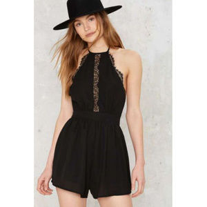 Nasty Gal Lioness Hate the Game Lace Romper